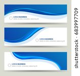 business banner wave set  wavy... | Shutterstock .eps vector #683997709