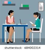 office teamwork. young creative ... | Shutterstock .eps vector #684002314