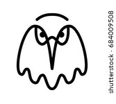 eagle. bird head contour on a... | Shutterstock . vector #684009508