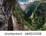 levada trail in madeira ... | Shutterstock . vector #684012538
