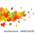 flying autumn leaves isolated... | Shutterstock .eps vector #684016630