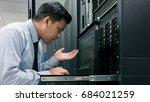 administrator serious working... | Shutterstock . vector #684021259