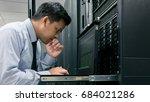 administrator serious working... | Shutterstock . vector #684021286