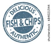 fish and chips sign or stamp on ... | Shutterstock .eps vector #684021544