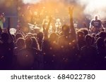crowd at concert   cheering... | Shutterstock . vector #684022780