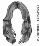 trendy woman long hairs  colors ... | Shutterstock .eps vector #684024019