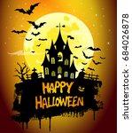 halloween poster  night... | Shutterstock . vector #684026878