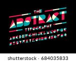 vector of modern abstract font... | Shutterstock .eps vector #684035833