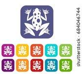 frog icons set | Shutterstock .eps vector #684046744