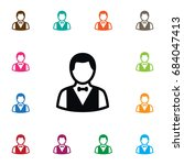 isolated depositor icon. boy ... | Shutterstock .eps vector #684047413
