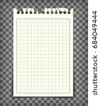empty checkered note book page... | Shutterstock .eps vector #684049444