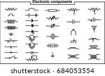 elements of electrical... | Shutterstock .eps vector #684053554