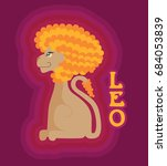 leo the lion based on the... | Shutterstock .eps vector #684053839