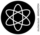 flat designed atom icon  black... | Shutterstock .eps vector #684063904