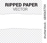 seamless ripped paper and... | Shutterstock .eps vector #684065704