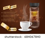 ads instant coffee bottle with... | Shutterstock .eps vector #684067840