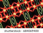 flowers reflection pattern | Shutterstock . vector #684069400