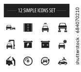 set of 12 editable vehicle...