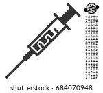 syringe icon with black bonus...   Shutterstock .eps vector #684070948