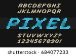 speed pixel font video computer ... | Shutterstock .eps vector #684077233