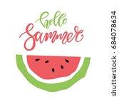 vector summer postcard... | Shutterstock .eps vector #684078634