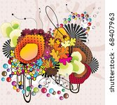 fantasy abstract color vector | Shutterstock .eps vector #68407963