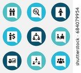 set of 9 editable team icons....