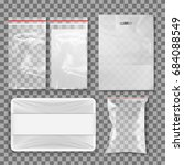 packages on a transparent... | Shutterstock .eps vector #684088549
