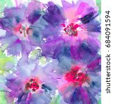 hand made watercolor floral... | Shutterstock . vector #684091594
