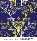 seamless pattern dry branch.... | Shutterstock .eps vector #684098170