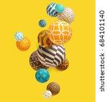 multicolored decorative balls.... | Shutterstock .eps vector #684101140