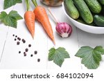 cucumbers and vegetables for... | Shutterstock . vector #684102094