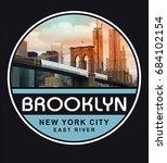 photo print brooklyn bridge... | Shutterstock . vector #684102154