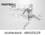 football of the particles... | Shutterstock .eps vector #684103129