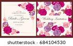 vintage wedding invitation | Shutterstock .eps vector #684104530