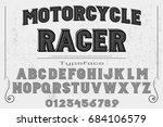 vintage font alphabet... | Shutterstock .eps vector #684106579