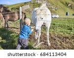 icelandic mother with her son... | Shutterstock . vector #684113404