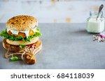 fresh homemade vegan carrot and ...   Shutterstock . vector #684118039