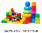 educational colorful toys... | Shutterstock . vector #684124660