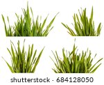 green grass lawn isolated on... | Shutterstock . vector #684128050