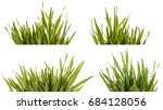 green grass lawn isolated on... | Shutterstock . vector #684128056