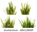 green grass lawn isolated on... | Shutterstock . vector #684128089
