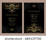 invitation card design   luxury ... | Shutterstock .eps vector #684129700
