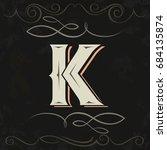 retro style. western letter... | Shutterstock .eps vector #684135874