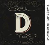 retro style. western letter... | Shutterstock .eps vector #684135946