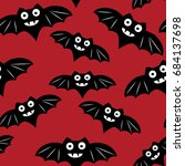 halloween seamless pattern with ... | Shutterstock . vector #684137698