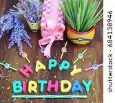 happy birthday square... | Shutterstock . vector #684138946