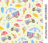 seamless pattern with... | Shutterstock . vector #684140860