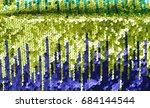 background sequin. sequin... | Shutterstock . vector #684144544