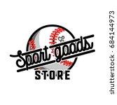 color vintage sport goods...   Shutterstock . vector #684144973